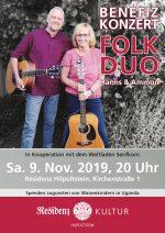 ResidenzKultur_Plakat Benefizkonzert Harms und Ammon am 9.11.2019 in der Residenz